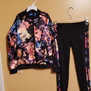 Girls Adidas Jacket and Pants Set